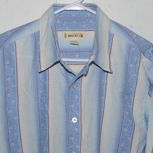 BKE button down mens shirt size XL J672
